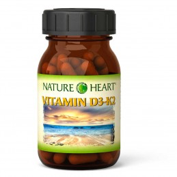 Vitamin D3 und K2  60 Kapseln